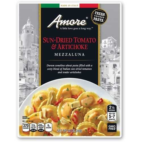 Amore Sun Dried Tomato And Artichoke Mezzaluna (6x8.8 OZ)