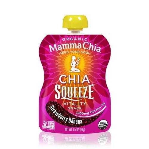 Mamma Chia Organic Chia Squeeze Strawberry Banana (16x3.5 OZ)