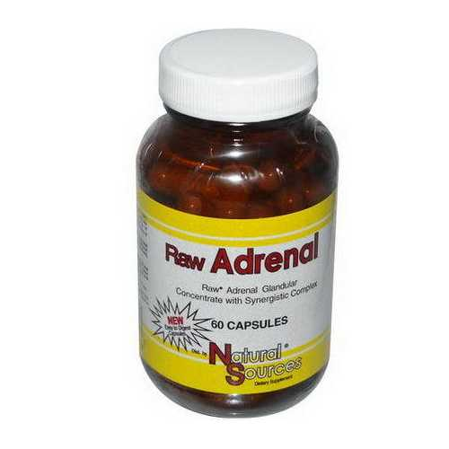 Natural Sources Raw Adrenal  (1x60 TAB )