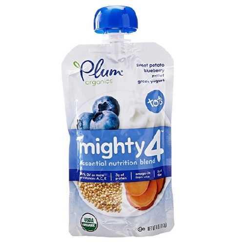 Plum Organics Sweet Potato, Blueberry, Millet & Greek Yogurt (6X4 OZ)
