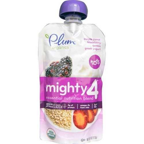Plum Organics Purple Carrot, Blackberry Quinoa, Greek Yogurt (6X4 OZ)