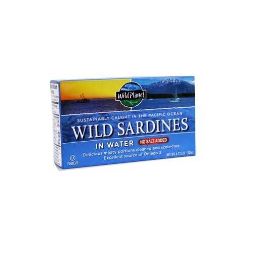 Wild Planet Sardines No Salt in Water (12x4.37 OZ)