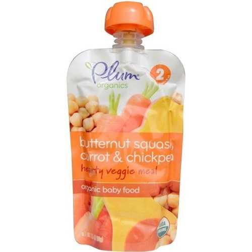 Plum Organics Stage 2, Butternut Squash Carrot & Chickpea (6X3.5 OZ)