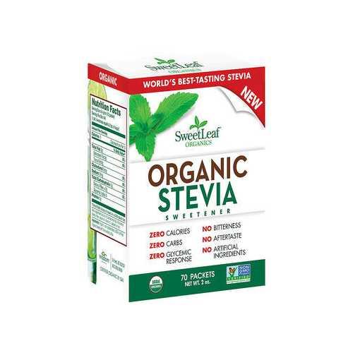 SweetLeaf Organic Stevia Sweetener Packets (1x70 Ct)
