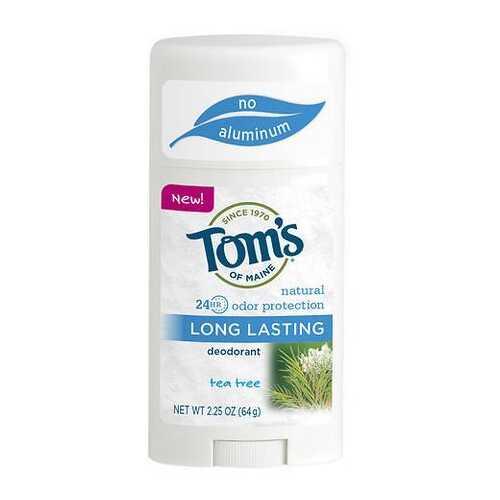 Tom's of Maine Natural Long Lasting Natural Deodorant Tea Tree (6x2.25 OZ)