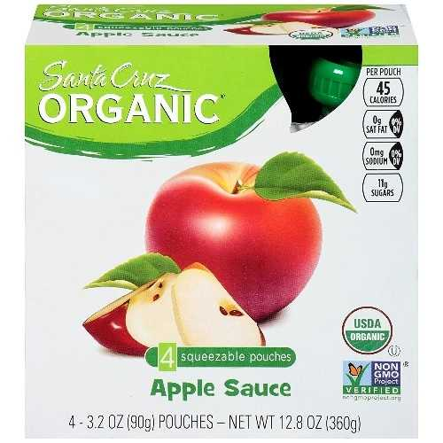 Santa Cruz Organic  Applesauce Original (6X4 Ct)