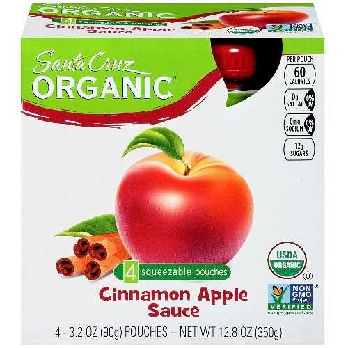 Santa Cruz Organic Apple Sauce Cinnamon (6X4 Ct)