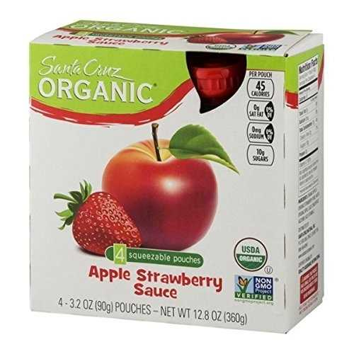 Santa Cruz Organic  Apple Strawberry Sauce (6X4 Ct)