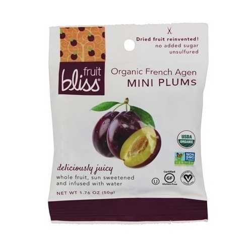 Fruit Bliss Organic Mini French Agen Dried Plums (12x1.76 OZ)