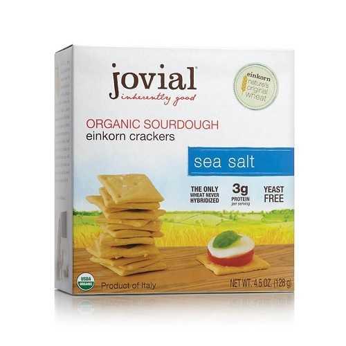 Jovial Organic Sourdough Einkorn Crackers Sea Salt (10x4.5 OZ)