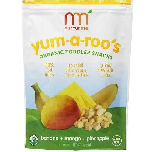 Nurturme Yum-A-Roo'S Snacks, Banana, Mango, Pineapple (6X1 OZ)