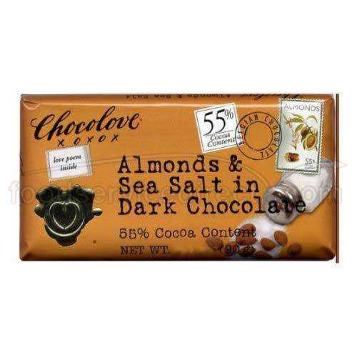 Chocolove Almond SeaSalt Dark Chocolate (12x1.3OZ )