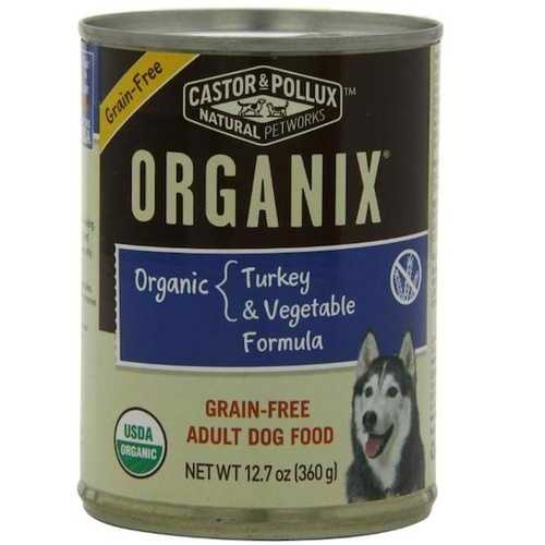 Castor & Pollux Org Turkey Veg Dog (12x12.7OZ )