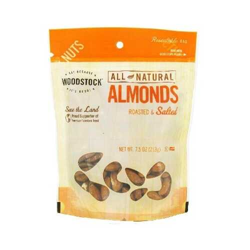 Woodstock R/S Almonds (8x7.5OZ )