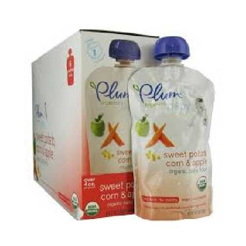 Plum Organics Swtpot/Corn/Apple (6x4OZ )