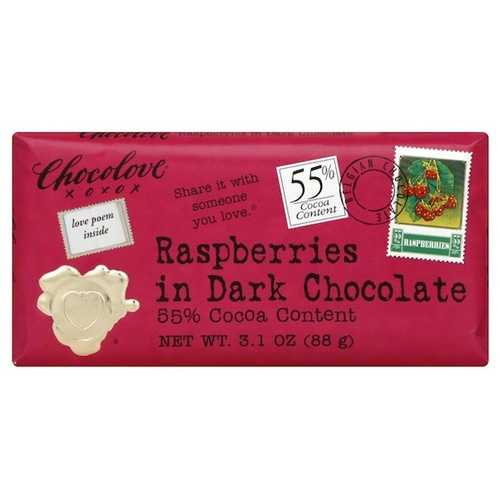 Chocolove Dark Choc/RspBerry (12x3.1OZ )