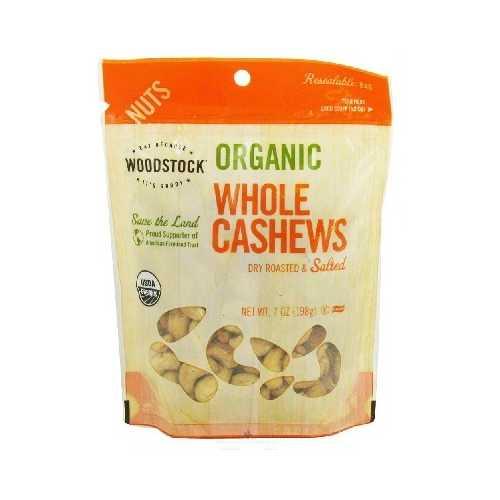 Woodstock R/S Lrg Whole Cashews (8x6OZ )