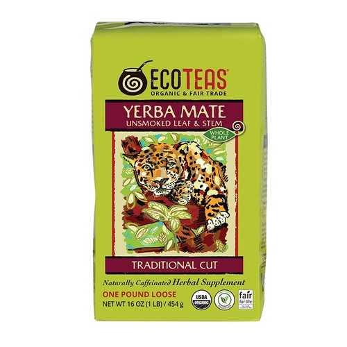 ECOTEAS Yerba Mate Leaf/Stem Loose (6x1LB)