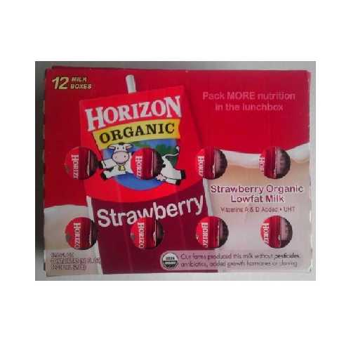 Horizon 1% Straw Clbpk (1x12Pack )