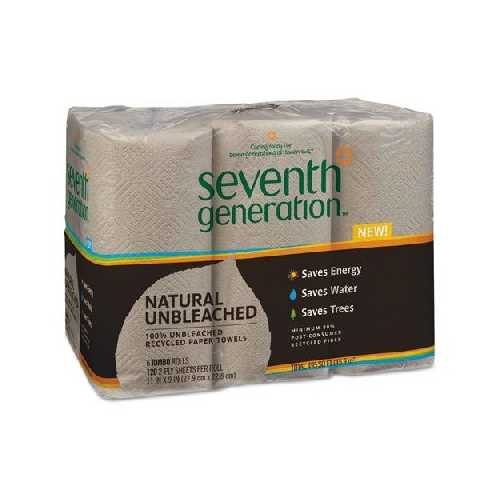 Seventh Generation Brown Paper Towels (4x6 CT)