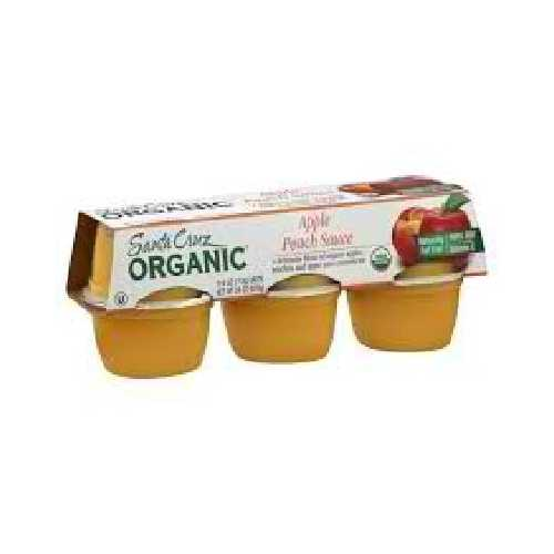 Santa Cruz Organics Apple Pch Sauce Cup (12x6 CT)