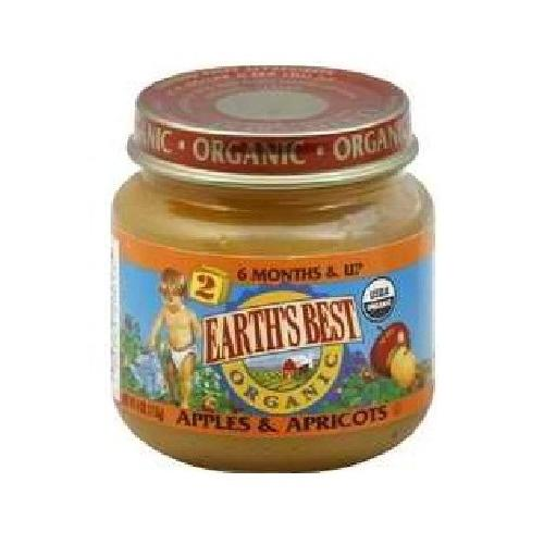 Earth's Best Baby Foods Baby Apple/Apricot (12x4OZ )