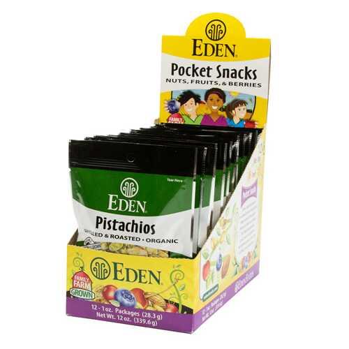 Eden Foods Pistachios, Shelled (12x1 OZ)