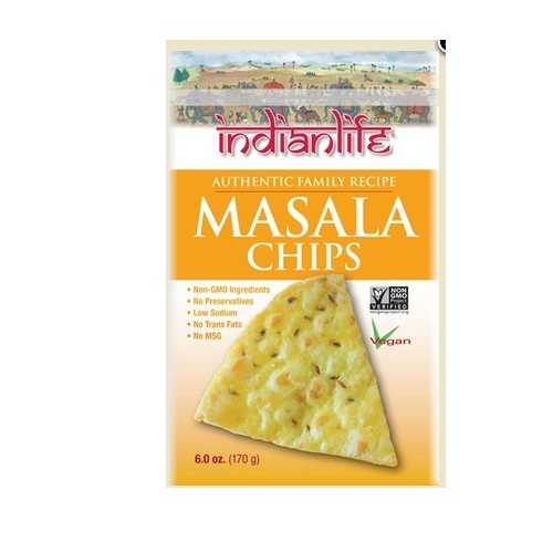 Indian Life Foods Chips, Masala (12x6 OZ)