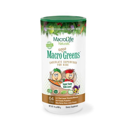 MacroLife Naturals Jr. Macro Coco-Greens for Kids Chocolate 14 Oz