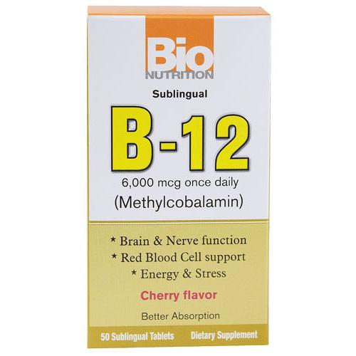 Bio Nutrition B12 Sublingual 6000 mcg (1x50 Tablets)