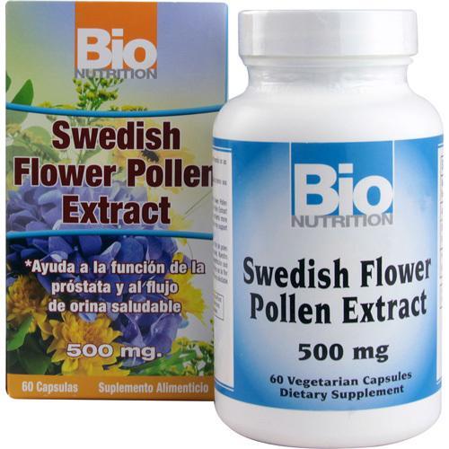 Bio Nutrition Inc Swedish Flower Pollen Extract 500 mg(1x 60 Veg Capsules)