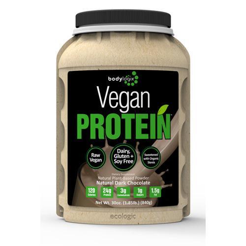 Bodylogix Protein Powder Vegan Plant Based Dark Chocolate (1x1.85Lb)