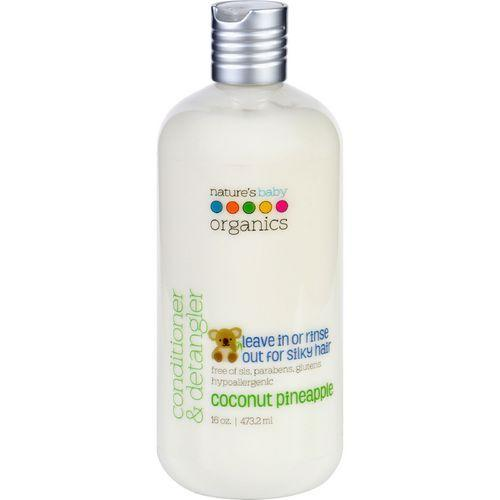Natures Baby Organics Conditioner and Detangler  Coconut Pineapple  16 oz