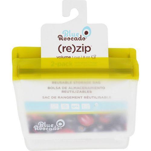 Blue Avocado Bag  Re Zip  1 Cup  Green  2 Pack