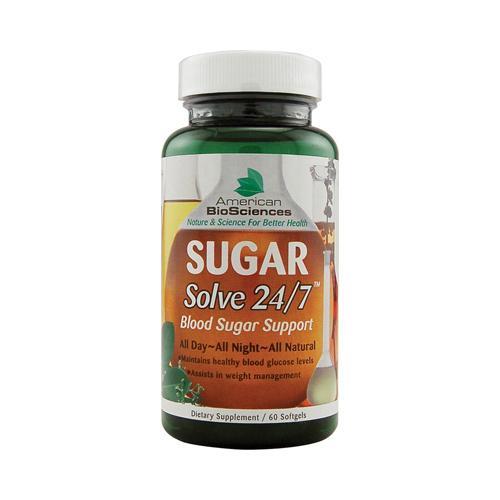American Bio-Sciences SUGAR Solve 24-7 (60 Softgels)
