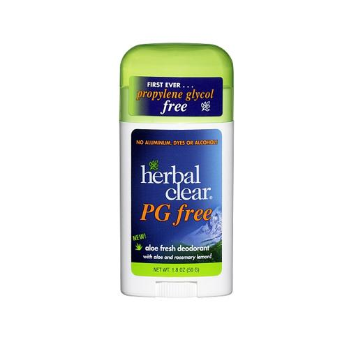 Herbal Clear Deodorant Stick Aloe Fresh Pg Free 1.8 Oz