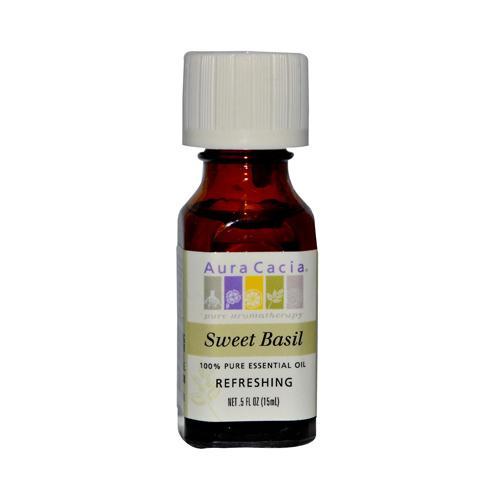 Aura Cacia Pure Essential Oil Sweet Basil (0.5 fl Oz)