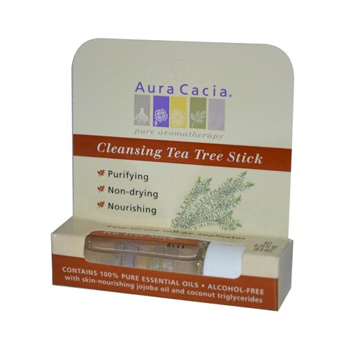Aura Cacia Cleansing Stick Tea Tree 0.29 fl Oz (6 Pack)