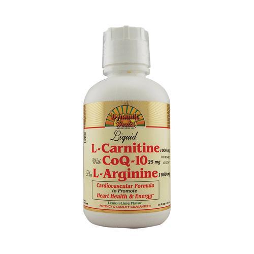 Dynamic Health Liquid L-Carnitine with CoQ-10 plus L-Arginine Lemon Lime (16 fl Oz)