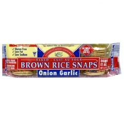 Edward & Sons Onion Garlic Fat Free Snaps (12x3.5 Oz)
