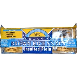 Edward & Sons Plain Unsalted Brown Rice Snaps (12x3.5 Oz)