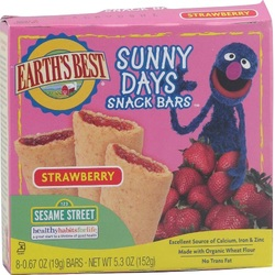 Earth's Best Sesame Street Strawberry Snack Bar (6x5.3 Oz)