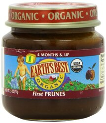 Earth's Best 1st Food Prunes Baby Food (12x2.5 Oz)