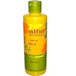 Alba Botanica Kukui Nut Massage Oil (1x8.5 Oz)