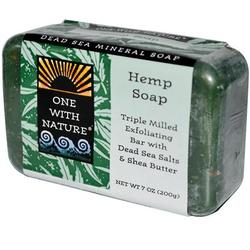 One With Nature Hemp Soap Peppermint (7Oz)