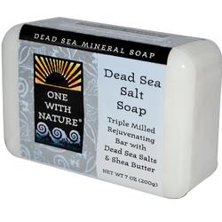One With Nature Dead Sea Salt Soap (7Oz)