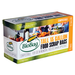 Biobag Tall Food Scrap Bags (12x12 CT)