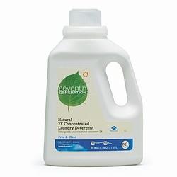 Seventh Generation Free & Clear 2x Liquid Laundry Detergent (6x50 Oz)