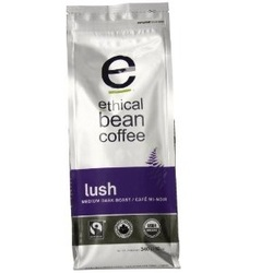 Ethical Bean Lush Medium Dark Roast Coffee (6x12 Oz)