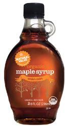 Natural Value Dark Amber Maple Syrup (12x8Oz)